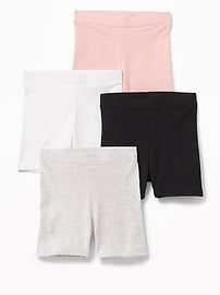 Jersey Biker Shorts 4-Pack for Toddler Girls
