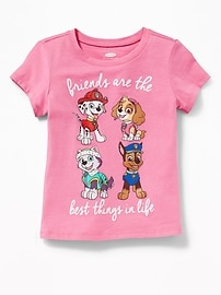 T-shirt « Friends Are the Best Things in Life » Paw Patrol pour toute-petite fille
