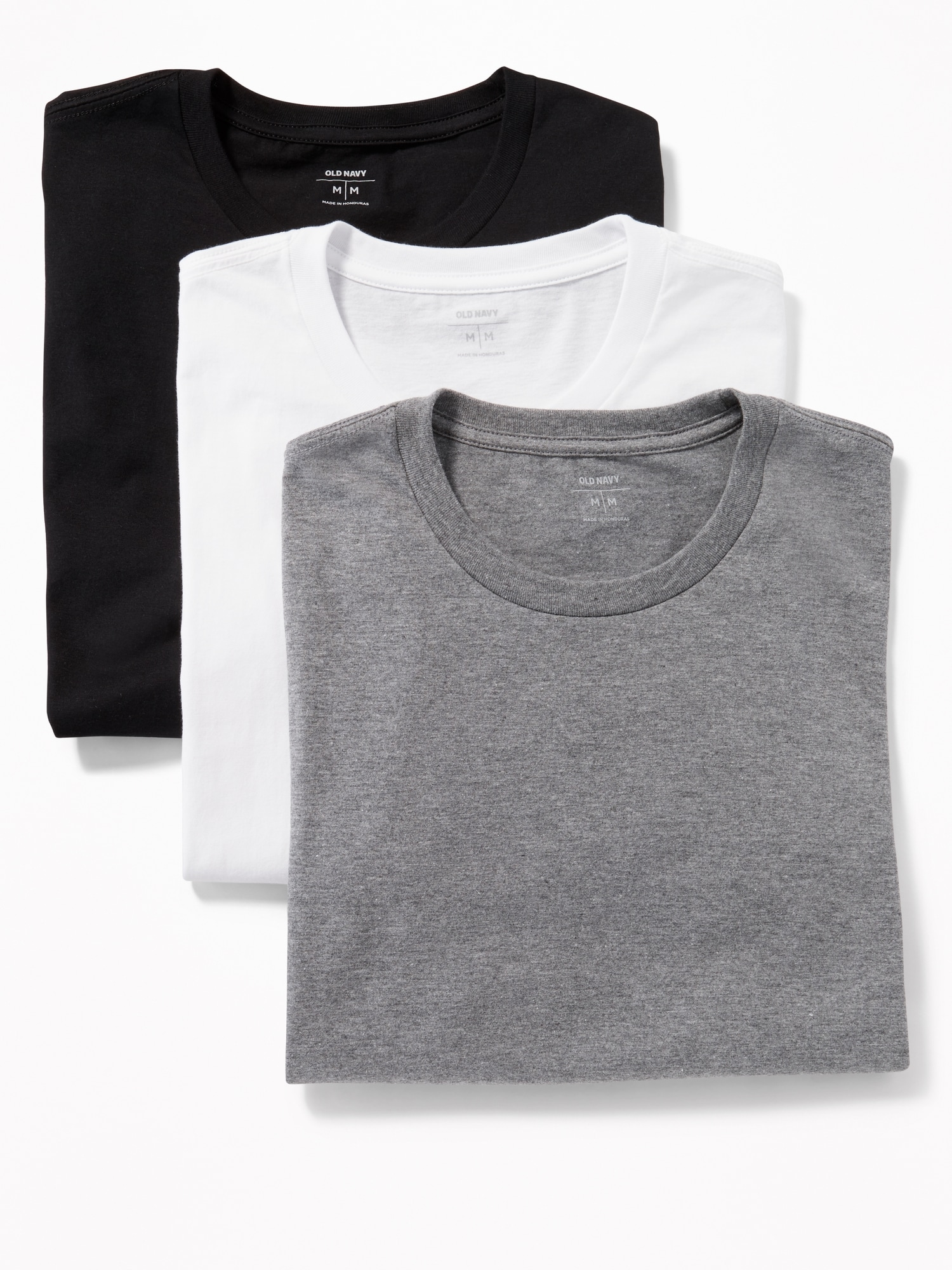 1ad05d1bc67 Moisture-Wicking Crew-Neck Tees 3-Pack for Men