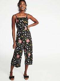 Combinaison pantalon-camisole sans manches pour femme