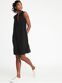 Sleeveless Swing Shirt Dress for Women