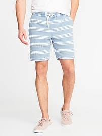 "Striped Jogger Shorts for Men (9"")"