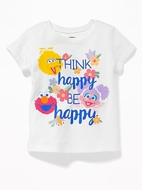 """Sesame Street&#174 """"Think Happy, Be Happy"""" Tee for Toddler Girls"""