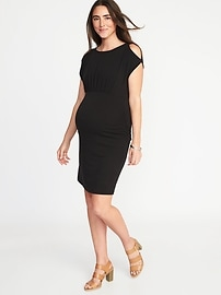 Maternity Cold-Shoulder Bodycon Dress