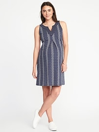 Maternity Pleated-Front Dress