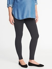 Maternity Front Low-Panel Leggings