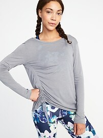 Relaxed Side-Tie Performance Top for Women