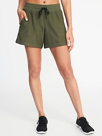 Twill Drawstring Performance Shorts for Women
