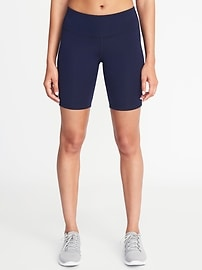"""Mid-Rise Compression Bermuda Shorts for Women (8"""")"""