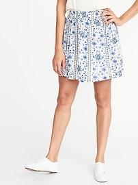 Smocked-Waist Circle Skirt for Women