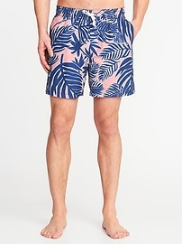 "Printed Swim Trunks for Men (6"")"