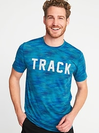 Go-Dry Eco Graphic Performance Tee for Men