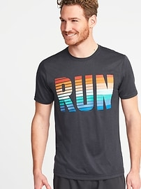 Regular-Fit Graphic Performance Tee for Men