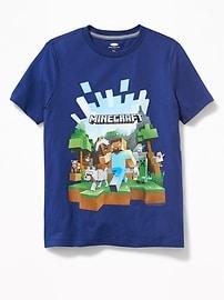T-shirt à imprimé MinecraftMC pour garçon