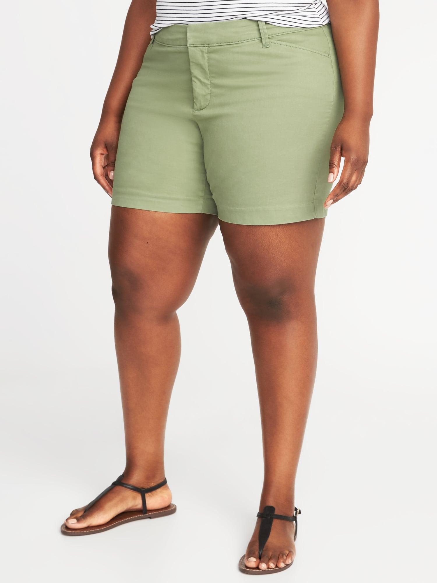 0a02c0e5205 Mid-Rise Secret-Slim Pockets Plus-Size Pixie Chino Shorts (7