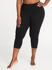 Plus-Size Fitted Yoga Crops