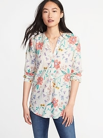 Relaxed Lightweight Popover Top for Women