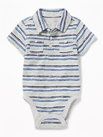 Pocket Polo Bodysuit for Baby
