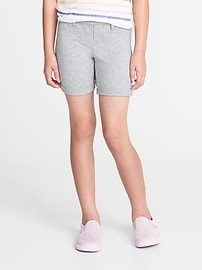 Cuffed French Terry Midi Shorts for Girls
