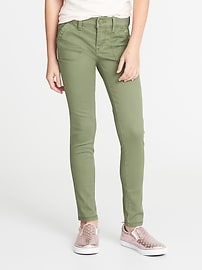 Twill Utility Rockstar Jeggings for Girls