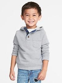 Henley à capuchon en jersey bouclette pour tout-petit garçon