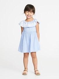 Fit & Flare Off-the-Shoulder Dress for Toddler Girls