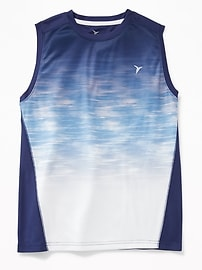 Gradient-Print Performance Muscle Tank for Boys