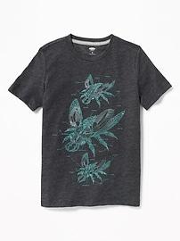T-shirt à imprimé à col rond pour garçon