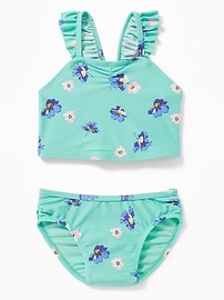 Floral Ruffled-Strap Bikini for Toddler Girls