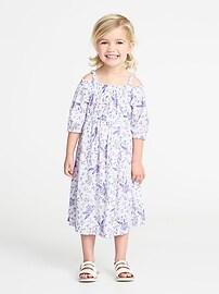 Floral Off-the-Shoulder Maxi for Toddler Girls