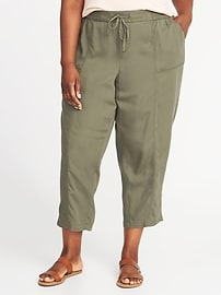 Mid-Rise Plus-Size Soft Utility Pants