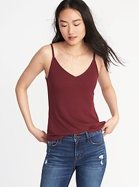 First-Layer Rib-Knit Cami Tank for Women