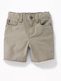 Canvas Cut-Off Shorts for Toddler Boys