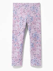 Floral-Print Cropped Leggings for Girls