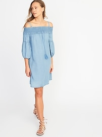 Tencel&#174 Off-the-Shoulder Dress for Women
