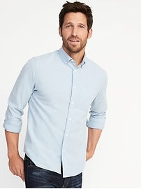 Slim-Fit Built-In Flex Oxford Shirt For Men