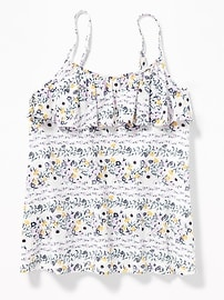 Ruffle-Yoke A-Line Floral Cami for Girls