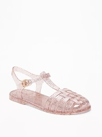 Sandales flexibles et scintillantes de pêcheur pour fille