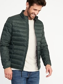 Quilted Down-Fill Nylon Jacket for Men