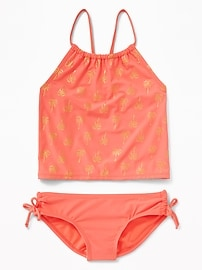 Ruched Side-Tie Tankini for Girls