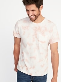 Tie-Dye Pocket Tee for Men