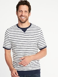 Textured-Stripe Tee for Men