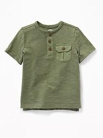 Henley en tricot grège de style militaire pour tout-petit garçon