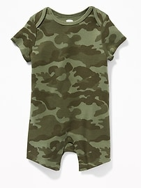Patterned Short One-Piece for Baby