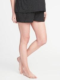 Maternity Fold-Over Jersey Lounge Shorts