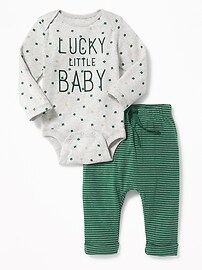St. Patrick's Day Bodysuit & Pants Set for Baby