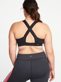 Plus-Size High Support Cross-Back Sports Bra