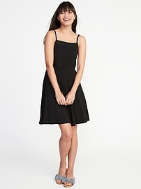 Fit & Flare Square-Neck Cami Dress for Women