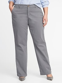 Smooth & Slim Plus-Size Everyday Boot-Cut Khakis