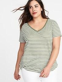 T-shirt en mélange de lin EveryWear, taille Plus